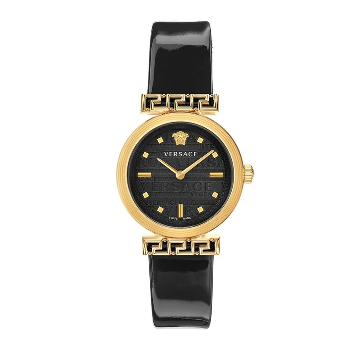 Uhr, Versace, Greca Motiv Watch Black