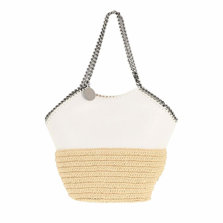 Handtasche, Stella McCartney, Falabella Raffia Medium Tote White
