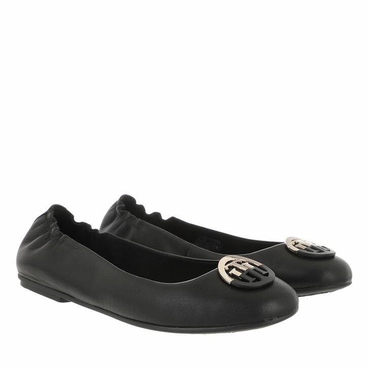 Schuh, Tommy Hilfiger, TH Basic Ballerinas Leather Black