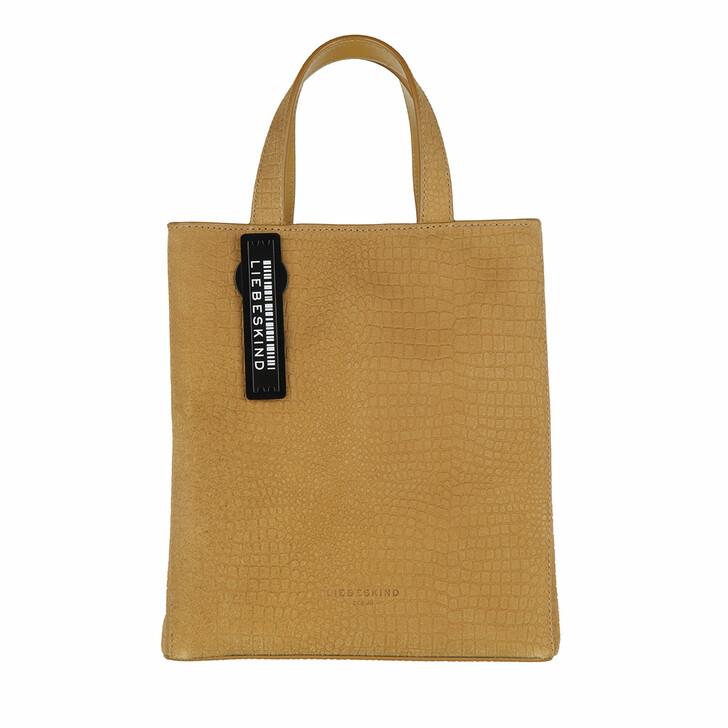 Handtasche, Liebeskind Berlin, Paper Bag Petit Suede Paper Bag S Dark Dijon