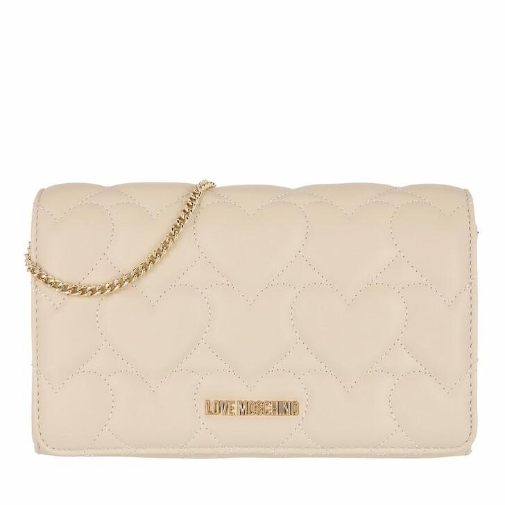 Handtasche, Love Moschino, Borsa Quilted Pu  Avorio