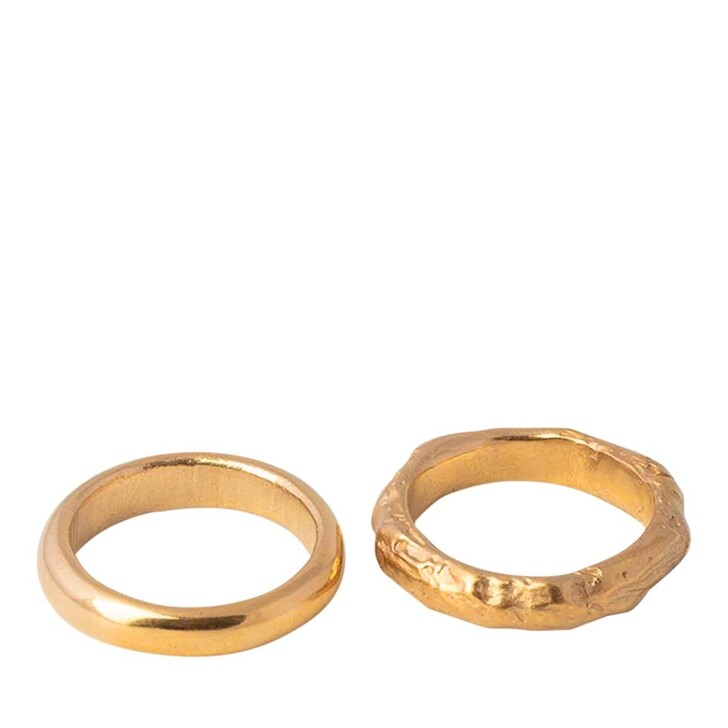 rings, Released From Love, Classic Band Set 003  Gold Vermeil