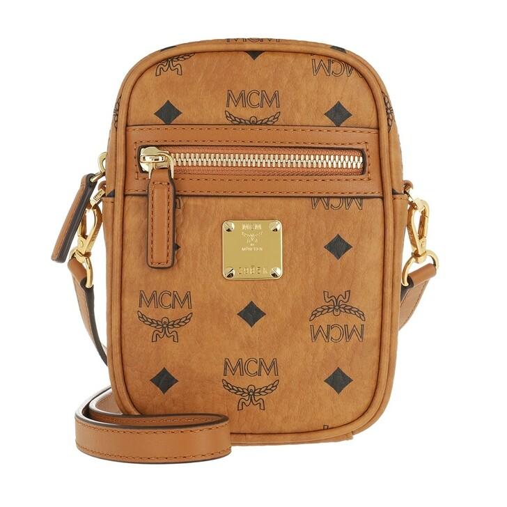 bags, MCM, Classic Visetos Crossbody Bag X-Mini Cognac
