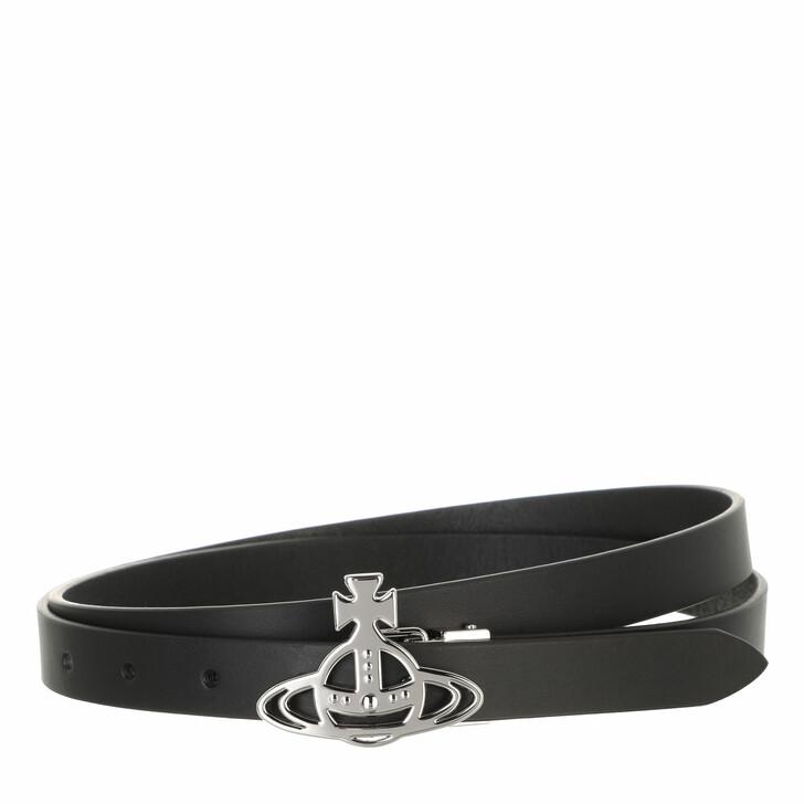 belts, Vivienne Westwood, Belts Small Line Orb  Buckle Belt Silver Black