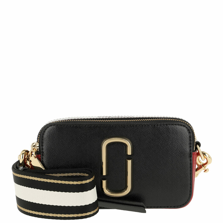 Handtasche, Marc Jacobs, Snapshot Small Camera Bag Black Black/Red