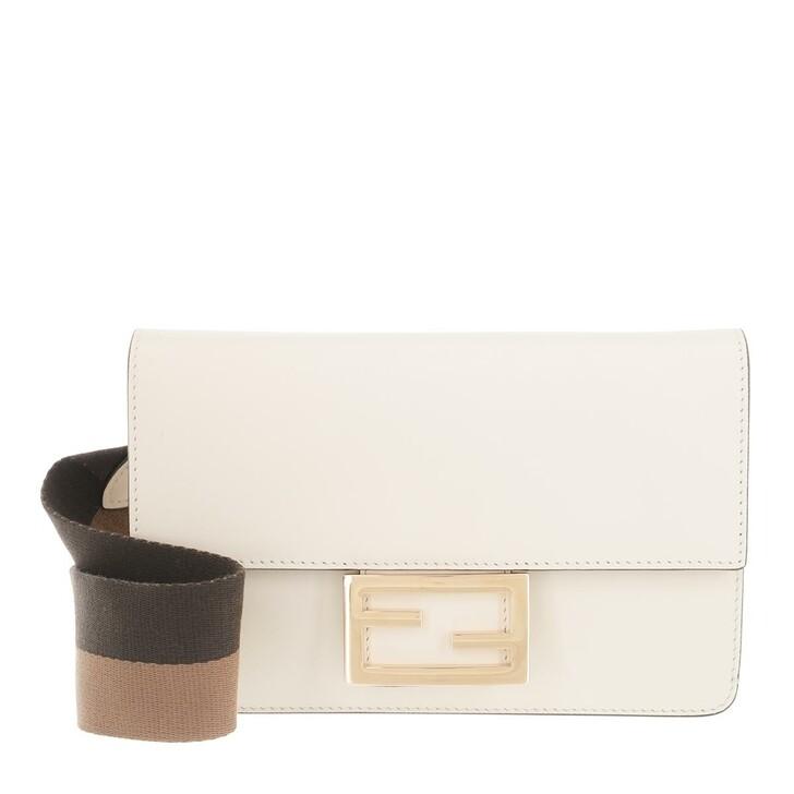 bags, Fendi, Iconic Baguette Crossbody Bag Leather White