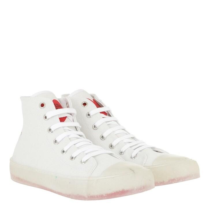 Schuh, Love Moschino, Sneaker Eco30 Canvas Bianco