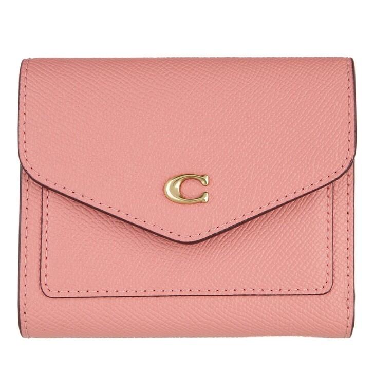 wallets, Coach, Crossgrain Leather Wyn Small Wallet Candy Pink