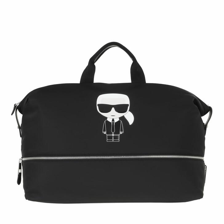 bags, Karl Lagerfeld, Ikonik Nylon Weekender  Black