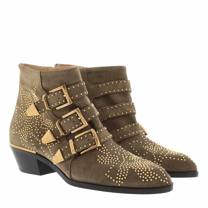 Schuh, Chloé, Susanna Boots Suede Dark Greige