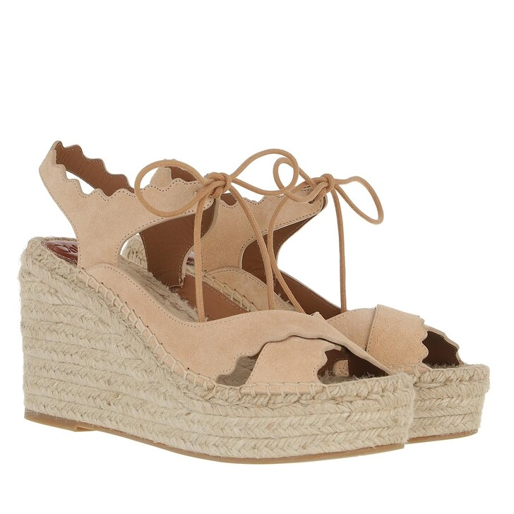 Schuh, Chloé, Lauren Espadrille Sandals Lovely Beige