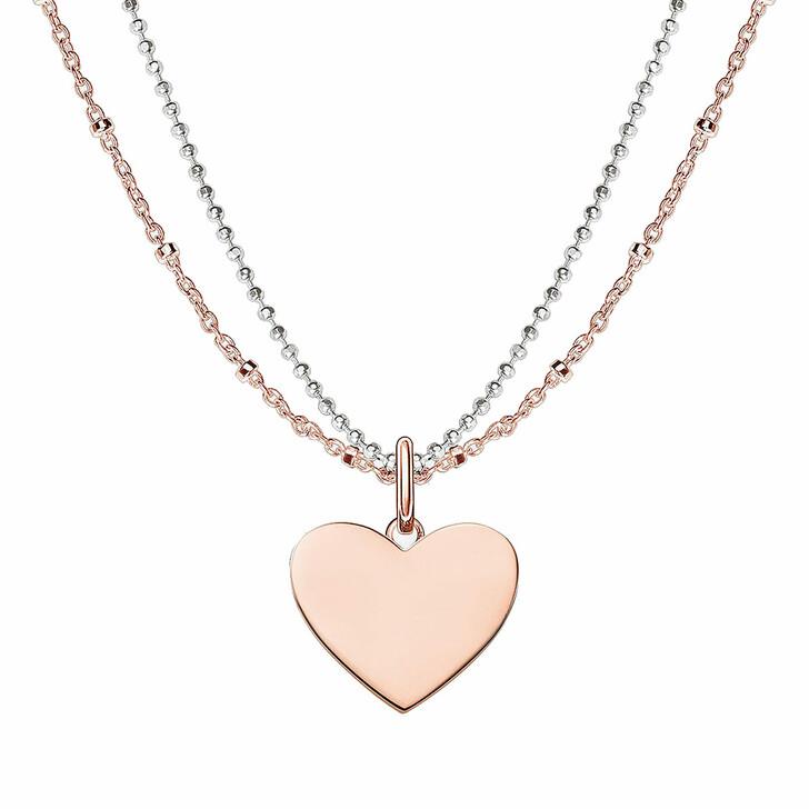 Kette, Thomas Sabo, Love Bridge Necklace Rosegold