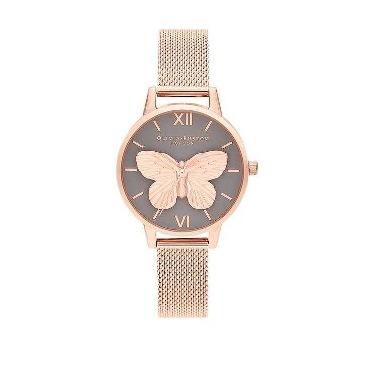 Uhr, Olivia Burton, Watch 3D Butterfly Roségold