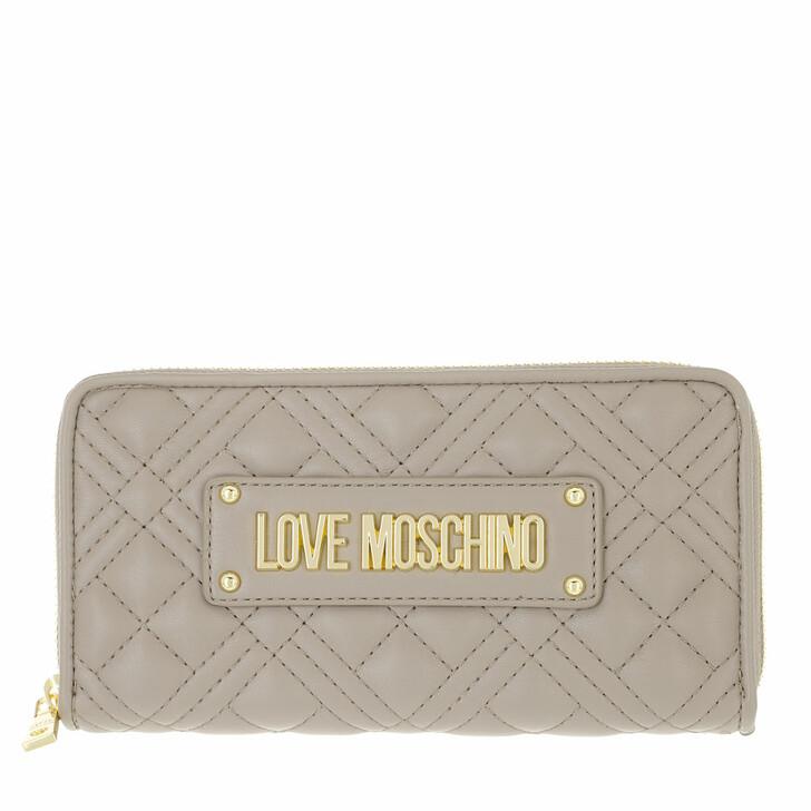 wallets, Love Moschino, Portafogli Quilted Pu Grigio