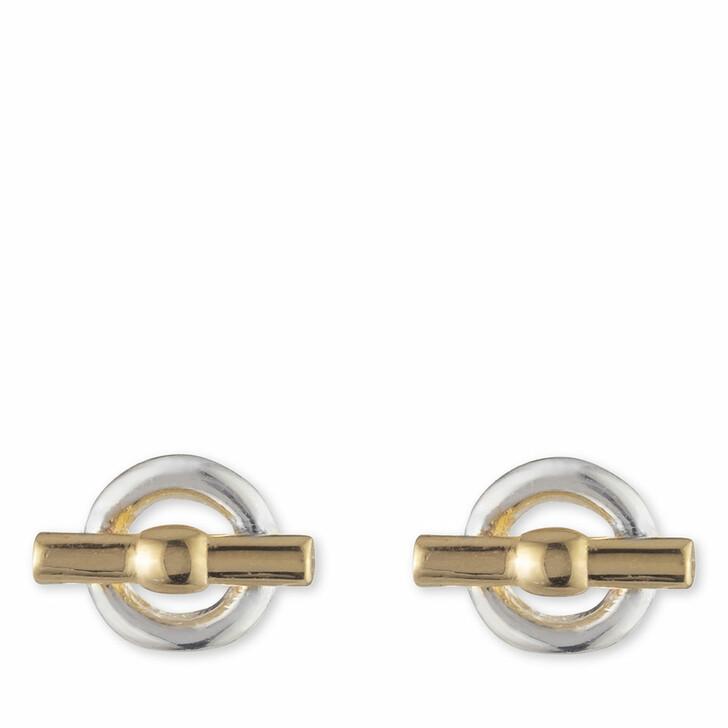 earrings, Lauren Ralph Lauren, Earrings Toggle Stud Silver/Two Tone