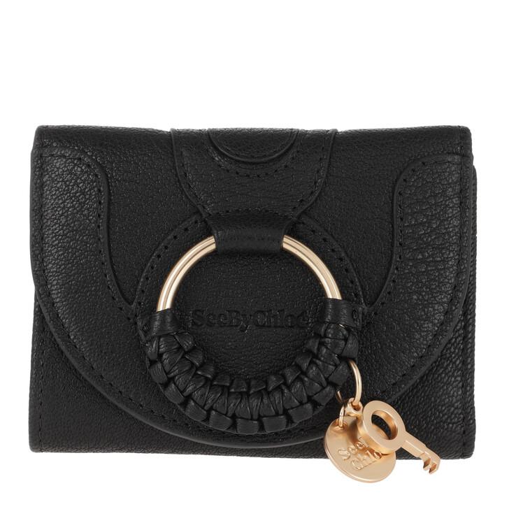 wallets, See By Chloé, Hana Wallet Small Black