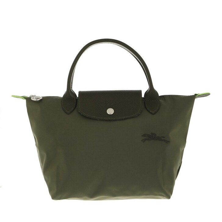 bags, Longchamp, Le Pliage Green Handbag Spruce