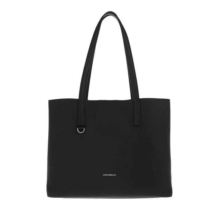 bags, Coccinelle, Matinee Handbag Double Grainy Leather  Noir/Caramel