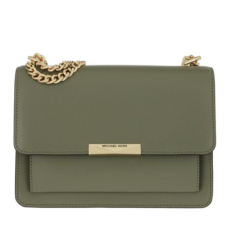 bags, MICHAEL Michael Kors, Jade Large Gusset Shoulder Bag Army Green