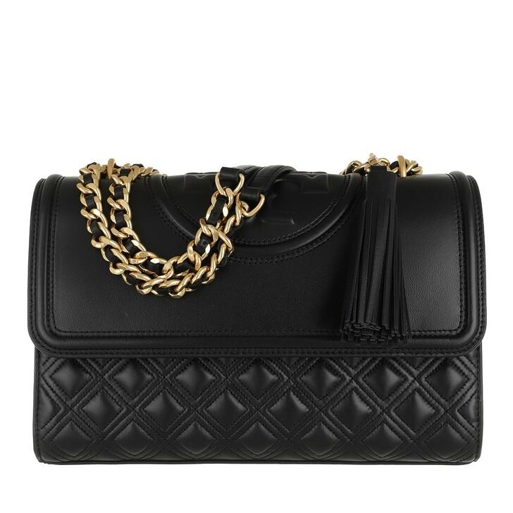 Handtasche, Tory Burch, Fleming Convertible Shoulder Bag Black
