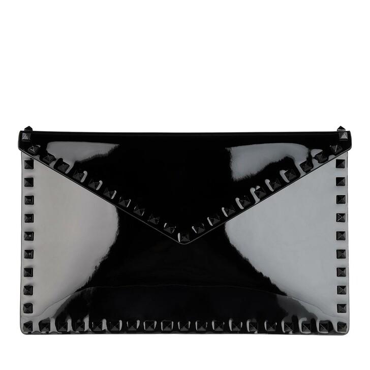 Handtasche, Valentino Garavani, Large Flat Pouch Black
