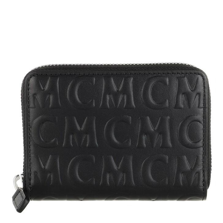 Geldbörse, MCM, Mcm Mini Lth U-Z12-1 New Zip Wallet Mini  Black