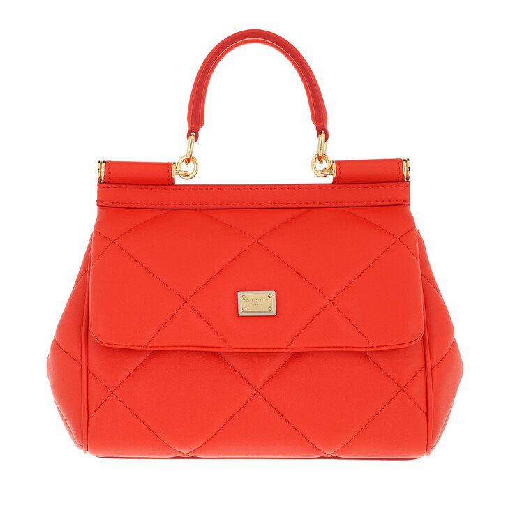bags, Dolce&Gabbana, Sicily Small Handle Bag Red