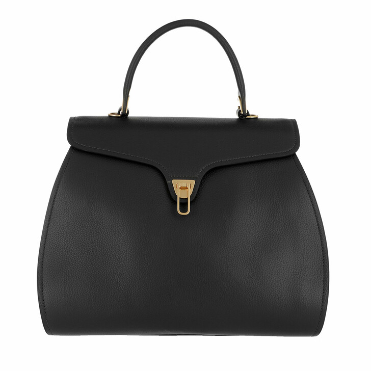 Handtasche, Coccinelle, Marvin Handle Bag Leather Noir