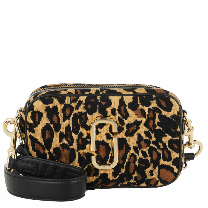 bags, Marc Jacobs, The Softshot 21 Crossbody Bag Knitted Leopard  Black Multicolor