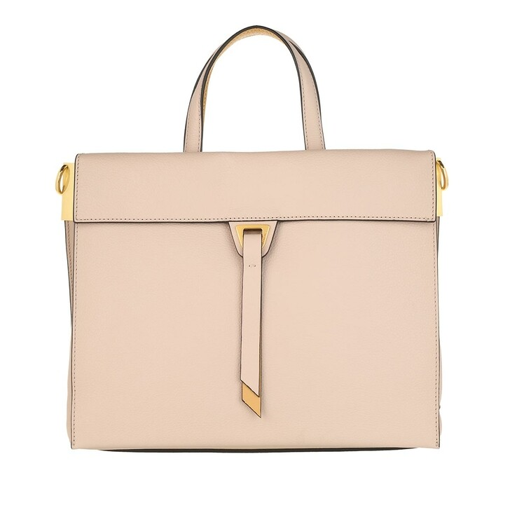 Handtasche, Coccinelle, Handbag Double Grainy Leather Powder Pink