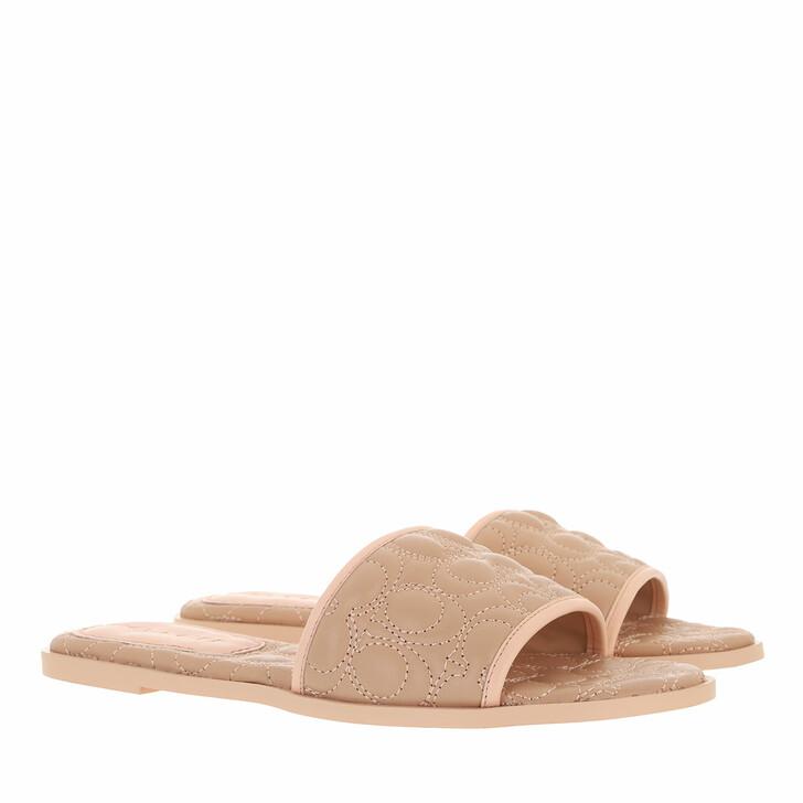 shoes, Coach, Olivea Leather Sandal Beechwood