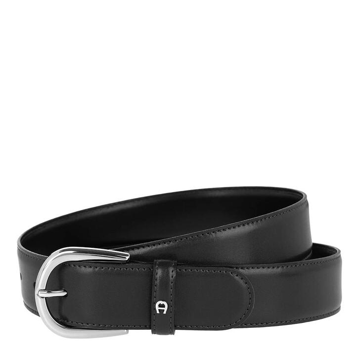 Gürtel, AIGNER, Logo Belt Black
