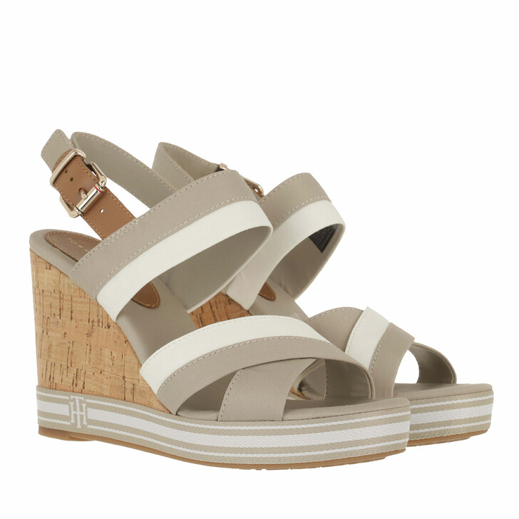 Schuh, Tommy Hilfiger, Tommy Essential High Wedge Sandals Stone