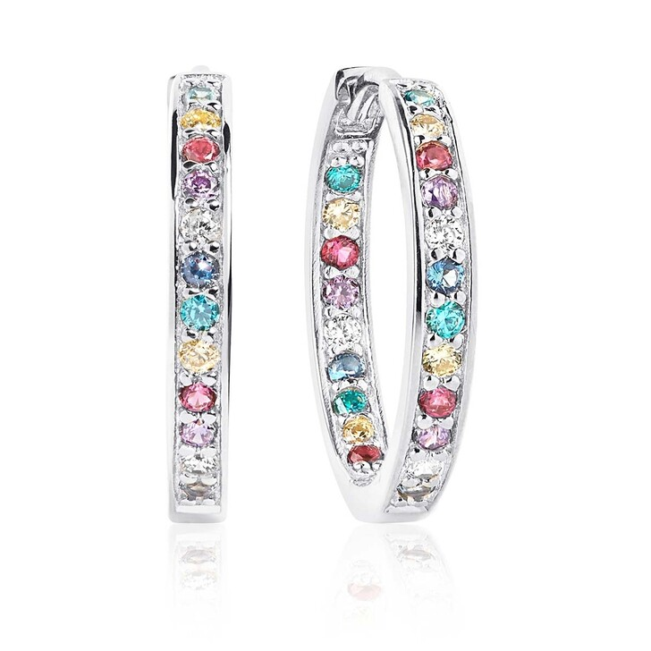 Ohrring, Sif Jakobs Jewellery, Corte Earrings Multicoloured Zirconia 925 Sterling Silver