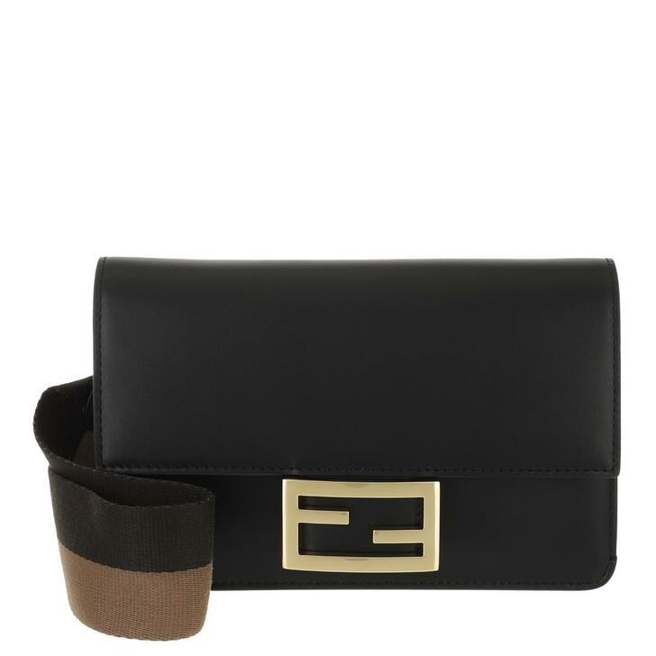 bags, Fendi, Iconic Baguette Crossbody Bag Leather Black