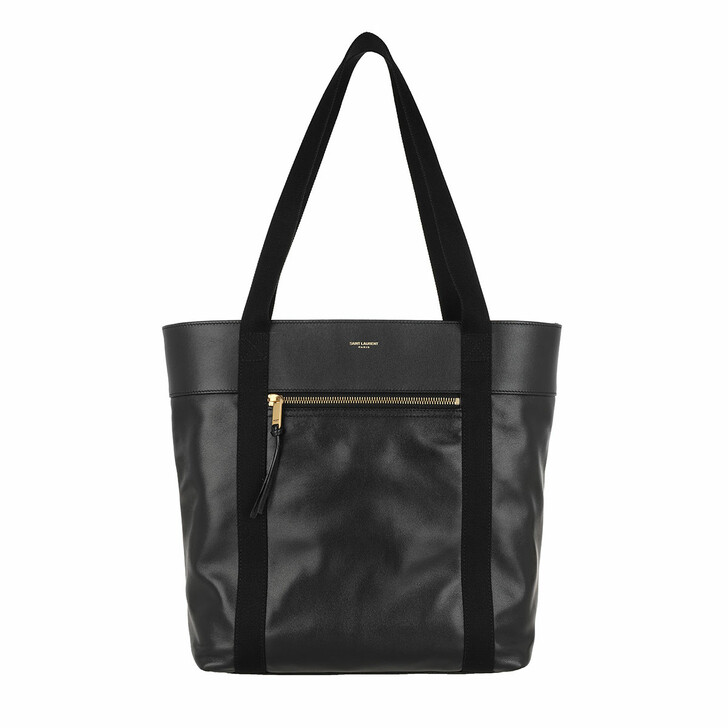 bags, Saint Laurent, Daily Cabas Small Shopping Bag Black