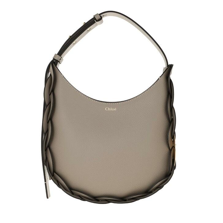 Handtasche, Chloé, Darryl Small Hobo Bag Leather Motty Grey