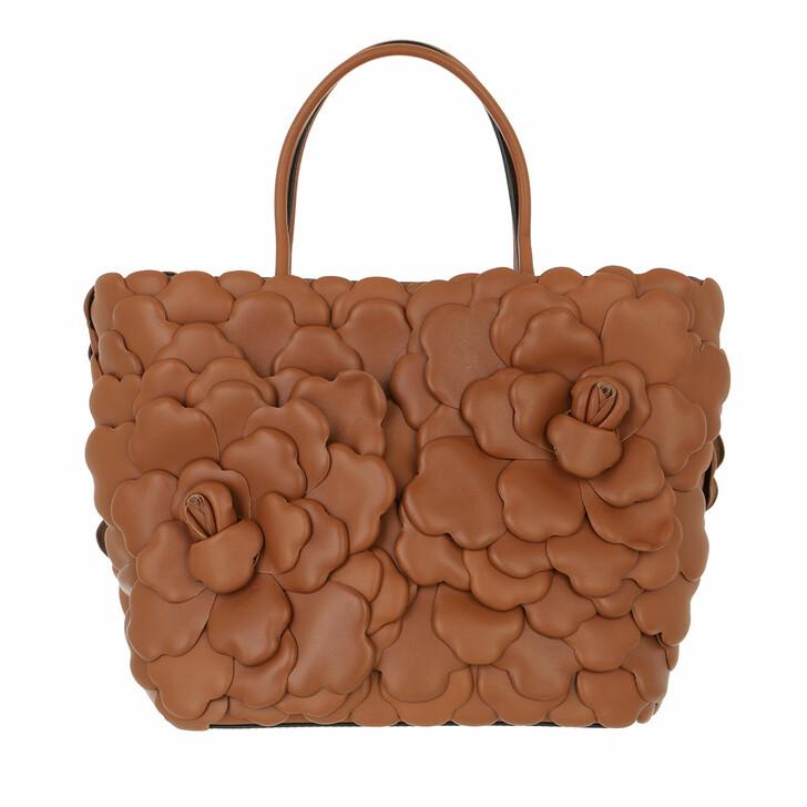 bags, Valentino Garavani, Rose Tote Bag Leather Brown