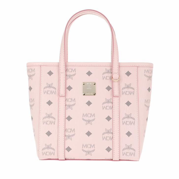 bags, MCM, Toni Visetos Shopper Mini Qh Powder Pink