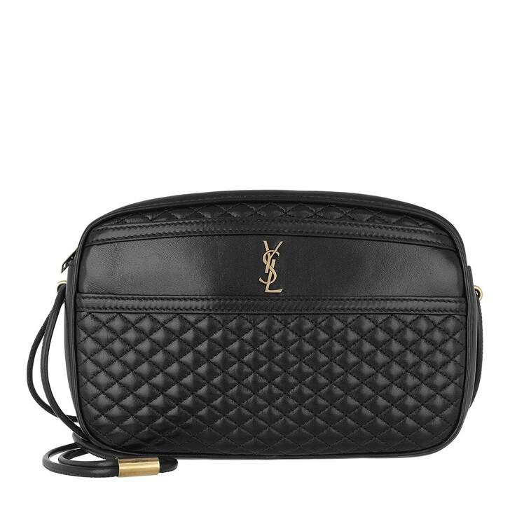 Handtasche, Saint Laurent, Victoire Camera Bag Quilted Lambskin Black