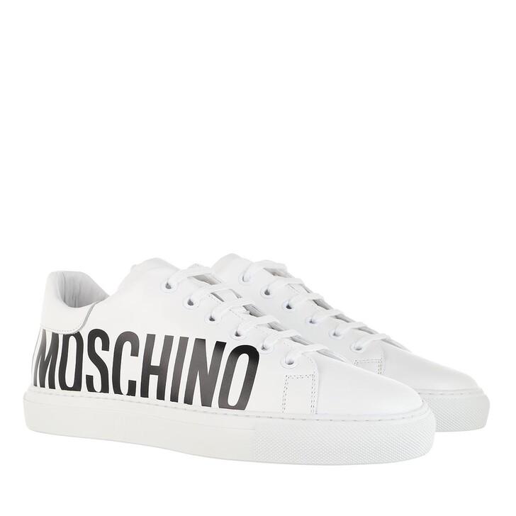 Schuh, Moschino, Sneakerd.Serena25 Vitello W.Sneakers Bianco