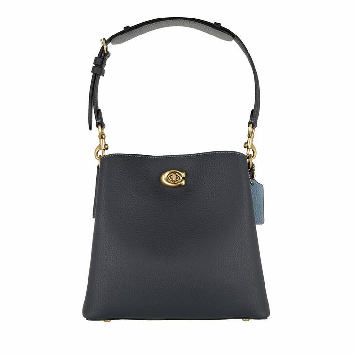 Handtasche, Coach, Colorblock Leather Willow Bucket Bag 21 B4/Midnight Navy Multi