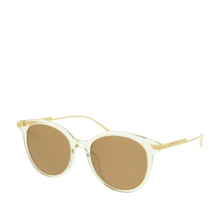 sunglasses, Bottega Veneta, BV1038SA-003 54 Sunglasses Beige-Gold-Brown