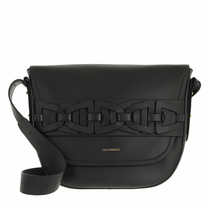 bags, Coccinelle, Gitane Handbag Grained Leather  Noir