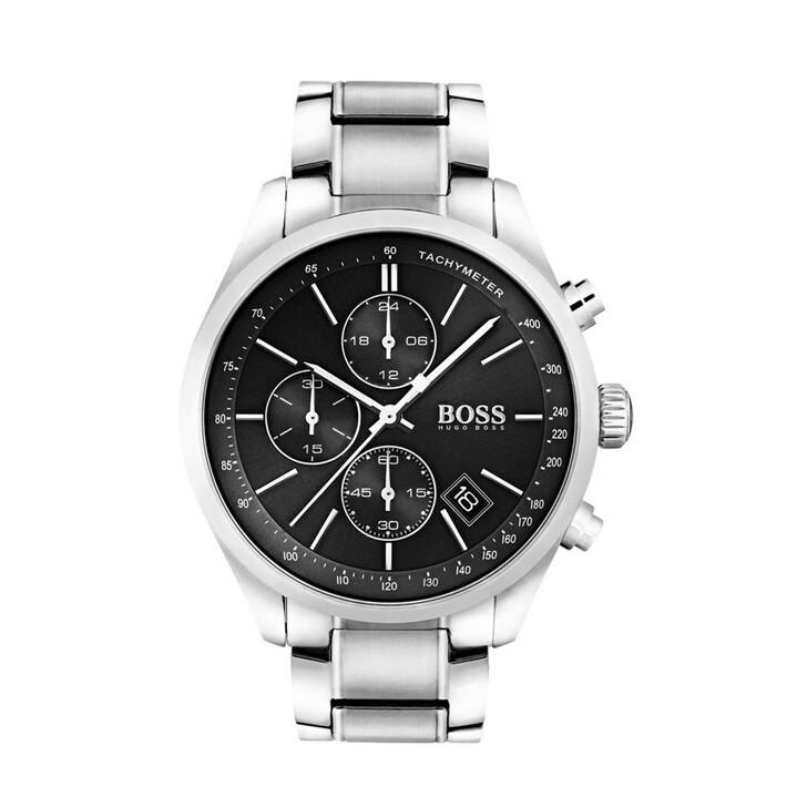 Uhr, Boss, Chronograph Grand Prix Casual Sport Silver/Black