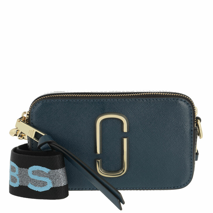 bags, Marc Jacobs, Logo Strap Snapshot Small Camera Bag Leather Blue Sea/Multi