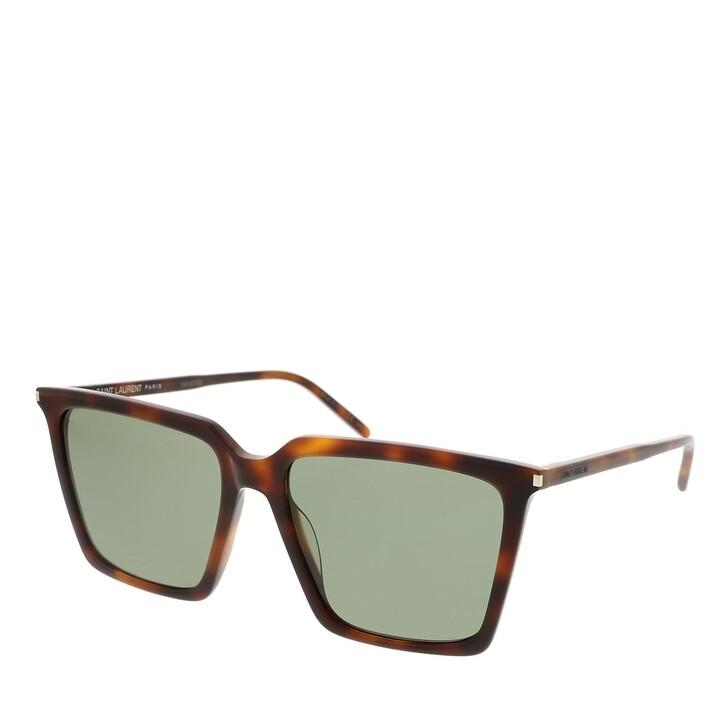 sunglasses, Saint Laurent, SL 474-002 56 Sunglass Woman Acetate Havana-Havana-Green
