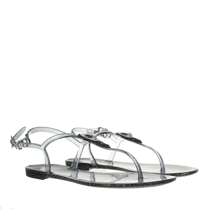 shoes, Karl Lagerfeld, JELLY Glitter Ikon Sling Black Rubber