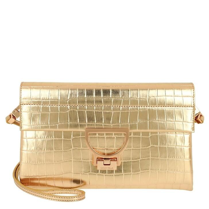 Handtasche, Coccinelle, Arlettis Croco Clutch Platino