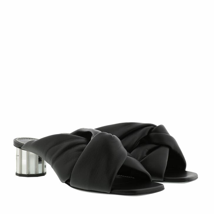 Schuh, Proenza Schouler, Heeled Mule Leather Nero